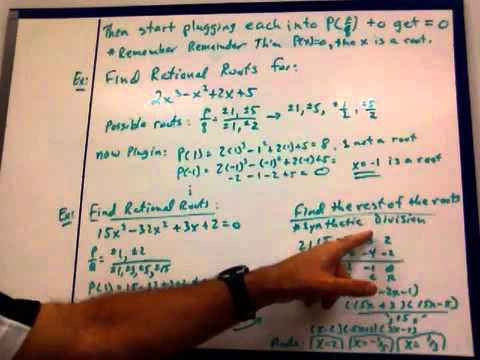 5-5 Theorems about Roots of Polynomial Equations