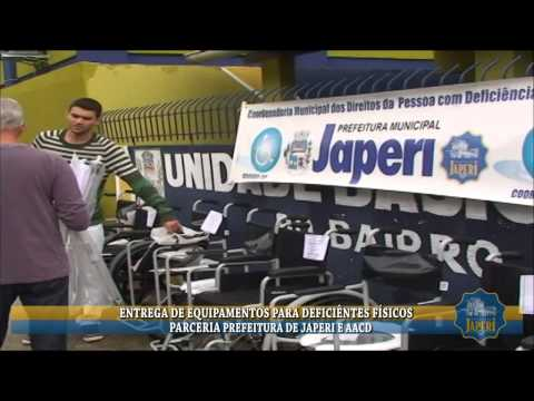 ENTREGA DE EQUIPAMENTOS PREFEITURA D JAPERI E AACD