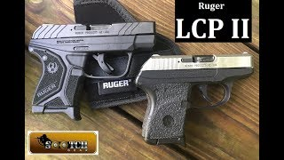 Ruger LCP II 380 ACP Pistol Review. A lot of upgrades over the Original LCP including Trigger, Sights, front slide serrations and more. Big thanks to Gun Pro Deals!  Gun Pro Deals: https://www.gunprodeals.com/Freedom Munitions: 5% Sootch00 Discounthttps://www.freedommunitions.com/Shoot Steel Targets: 10% Sootch00 Discounthttps://www.shootsteel.com/Be a Team Sootch Minuteman: https://www.patreon.com/Sootch00Join the NRA! Discount Membership Fees Click Here: https://membership.nrahq.org/forms/signup.asp?campaignid=XR031487 Hit the Like Button & Subscribe for more Fun Gun Reviews. Thanks for watching~ Sootch00Instagram: Sootch_00FaceBook: https://www.facebook.com/Sootch00FunGunReviewsMusic is from Jingle Punks Royalty Free Music through the Fullscreen Network. Used with permission.