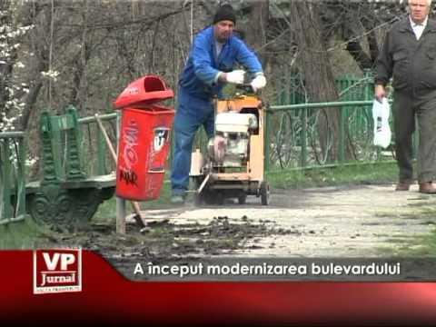 A început modernizarea bulevardului