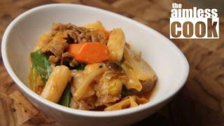 Tteokbokki Recipe - Korean Ricecakes in Savoury Miso and Gochujang Sauce