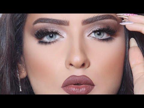 دورة خبيرة التجميل فاطمة الدوسري في دبي مستخدمة ميك اب فوريفر makeup for ever tutorial (видео)
