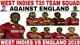 WEST INDIES T20I TEAM SQUAD AGAINST ENGLAND 2019 | WEST INDIES VS ENGLAND 2019 T20 SQUAD