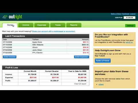 Free bookkeeping, online – Basics to getting started with Outright.com