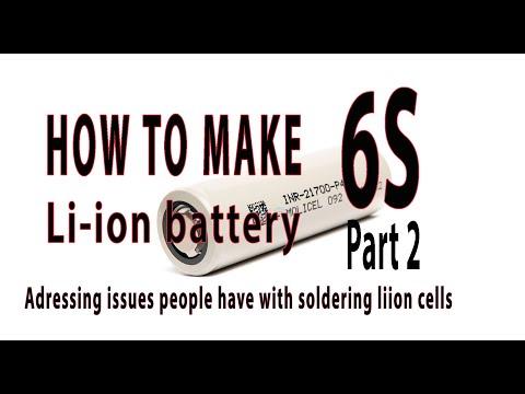 How to make 6s li-Ion 18650 21700 battery for long range FPV PART 2