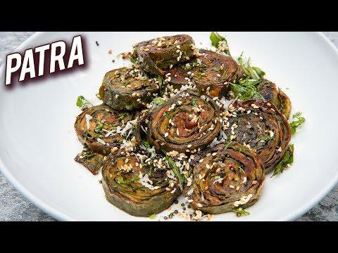 Homemade Gujarati Patra Recipe – How To Make Patra At Home – Traditional Gujarati Patra – Varun