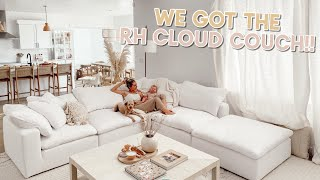 we got the cloud couch!!! delivery and setting it up! by Aspyn + Parker