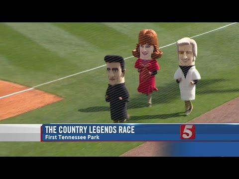 WATCH: Reba, George Jones and Johnny Cash entertain at the baseball game...