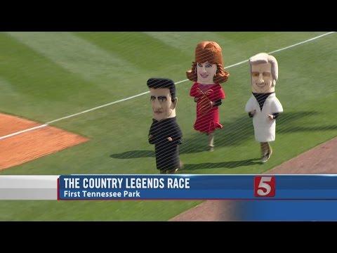 WATCH: Reba, George Jones and Johnny Cash entertain at the baseball game...