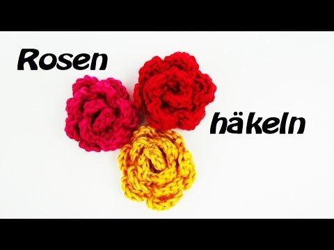 Rose häkeln – Anhänger – als Accessoires an eurer Mütze, eurem Schal oder als Brosche