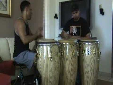 Conga Duo Improvisation Diego Centeno Paoli Me~