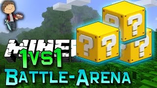 Minecraft: LUCKY BLOCK BATTLE-ARENA 1vs1! Modded Mini-Game w/Mitch&Friends!