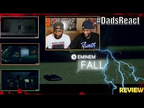 DADS REACT | EMINEM x FALL VIDEO | REACTION & BREAKDOWN | WE KNOW WHO'S CHASING HIM !!!