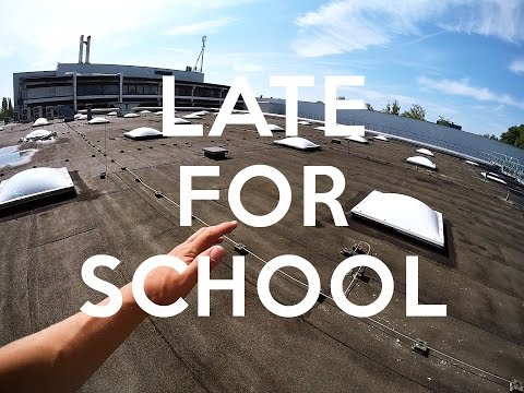 LATE FOR SCHOOL PARKOUR - POV (видео)