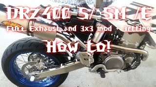 5. HOW TO: DRZ400 S / SM 3x3 Jetting and Exhaust