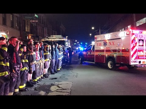 Fdny Lodd Procession - Fdny Escorts Fallen Firefighter William Tolley - Signal 5-5-5-5