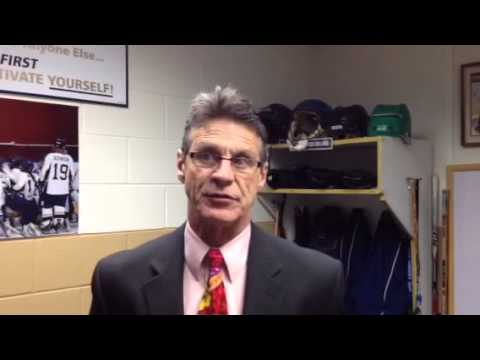 Women's Hockey:  Coach Collins Discusses 5-0 Loss to River Falls