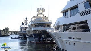 The best place on land to see the big mega yachts in Fort Lauderdale, Florida, is at the Bahia Mar Yachting Center. We took ...