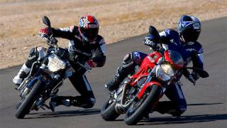 4. 2009 Aprilia Shiver vs Ducati Monster 696 - MotoUSA