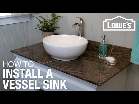 How To Install A Vessel Sink Play Video With Pictures
