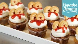How to Make a Jammie Dodger Cupcake | Cupcake Jemma by Cupcake Jemma