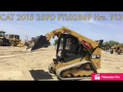 CATERPILLAR MINICARGADORAS 259D equipment video y6tjZttP37I