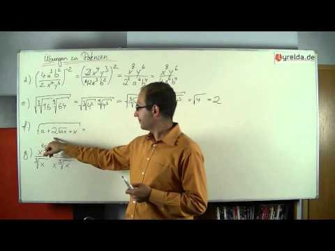 Musterlösung - Potenzgesetze