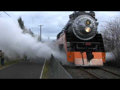 (HD) SP 4449 Amazing Steam Locomotive (part 1)