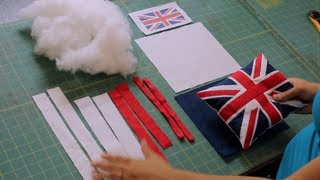 How to Make a Union Jack British Flag Pillow- One Direction - YouTube