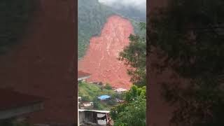 Locals reacting to the devastating mudslide.