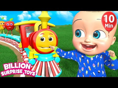 The train is Coming Song + More Nursery Rhymes & Kids Songs -  BillionSurpriseToys