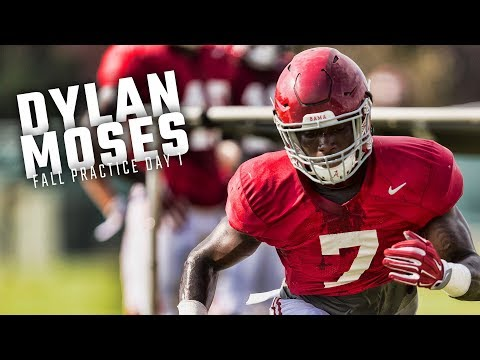 Watch Dylan Moses and the LBs run drills during Alabama's first fall practice