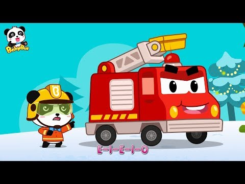 Panda Kiki, Brave Fireman | Fire Truck's New Mission | Christmas Song | BabyBus