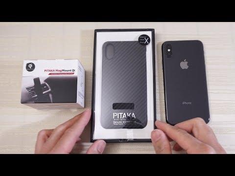 Pitaka Aramid Case and Magmount Qi for iPhone X! (видео)