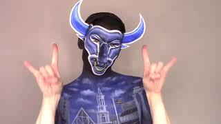 Nick Butlak transforms himself into UB Bull for Homecoming
