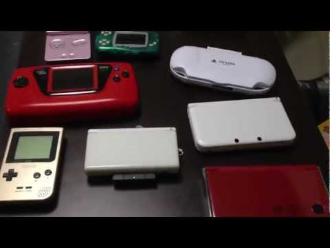 handheld console - Just some quick footage of some of my handheld game systems for the sake of comparison.