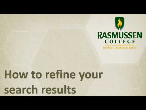 How to Refine Search Results