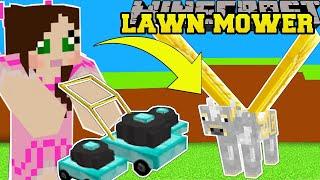 Minecraft: LAWN MOWER SIMULATOR! (CUT GRASS FOR INSANE MONEY & PETS!) Modded Mini-Game