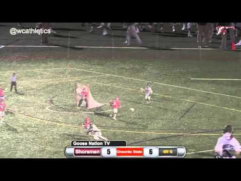 Shoremen Lacrosse - Comeback Win v. Oneonta State 3/7/16