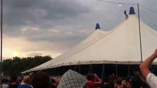 Video Drunk guy climbs Giant Tent! @ Deadmau5 / Skrillex LED Festival MP3, 3GP, MP4, WEBM, AVI, FLV Agustus 2018