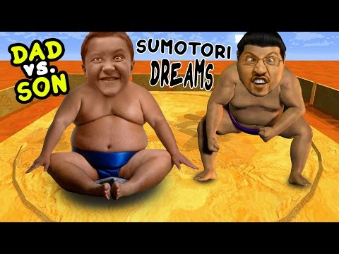 Dad vs. Son SUMO WRESTLING! Sumotori Dreams Co-Op Gameplay w/ Face Cam!