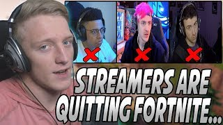 Tfue Explains The Reason Streamers Are QUITING Fortnite And MOVING To Apex Legends...
