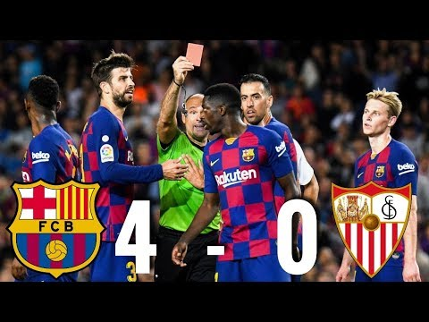 Barcelona vs Sevilla [4-0], La Liga 2019/20 - MATCH REVIEW