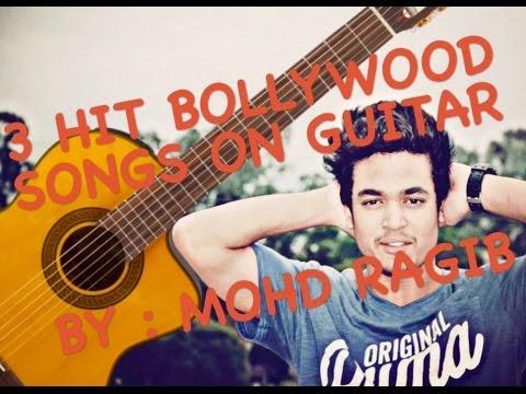 3 Bollywood Songs on Guitar using easy Chords – Teri Khair Mangdi – Gulabi Aankhen – Aadat