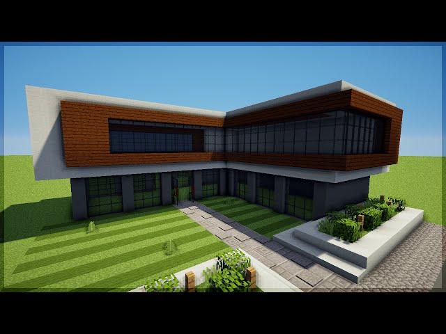 Minecraft construindo uma casa moderna 8 for Casa moderna minecraft design