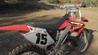 5. HONDA CR250 2 STROKE IDLE & REV UP