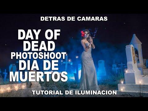 Fantasy Portrait: The Day of the Dead / Dia de Muertos: Tutorial de Iluminacion y detrás de Camaras