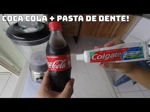 COCA-COLA + PASTA DE DENTE. OLHA ESSA MISTURA!