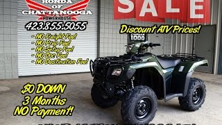 8. 2016 Foreman RUBICON TRX500FM5G ATV Review / Specs - SALE @ Honda of Chattanooga TN