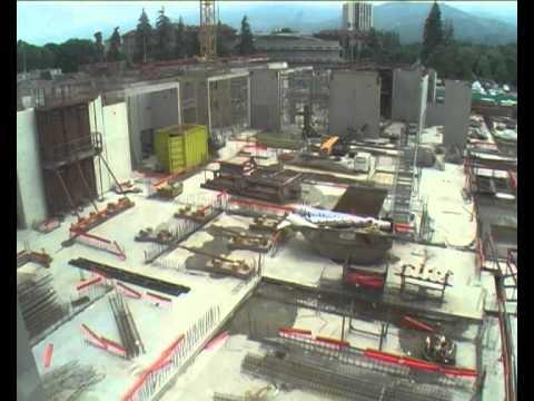 Time-lapse du chantier de l'IBP du CHU de Grenoble